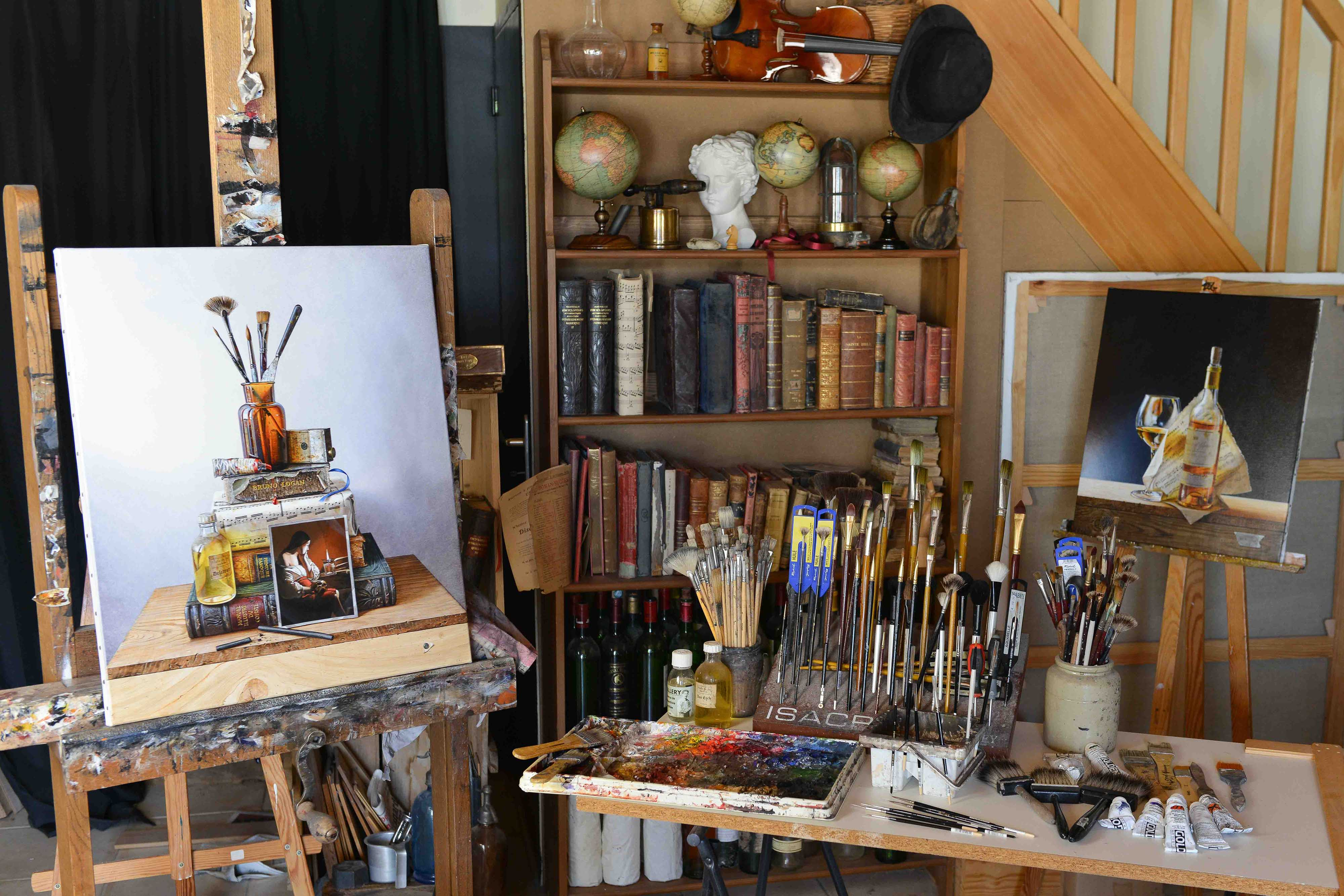 contact bruno logan peintre en trompe l 39 oeil. Black Bedroom Furniture Sets. Home Design Ideas