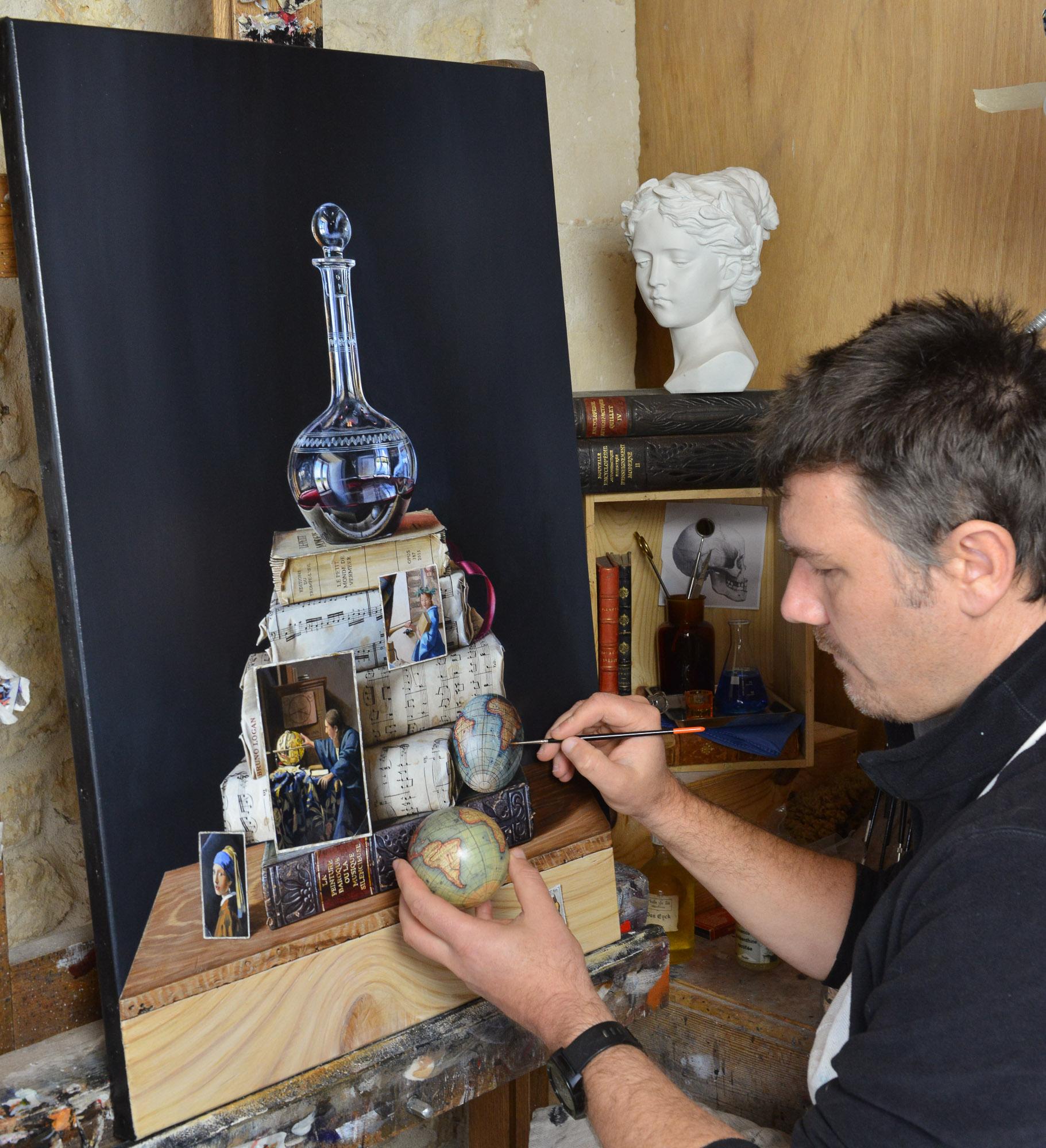 le petit monde de vermeer bruno logan peintre en trompe l 39 oeil. Black Bedroom Furniture Sets. Home Design Ideas